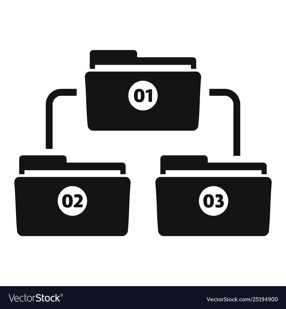 File folder scheme icon simple style