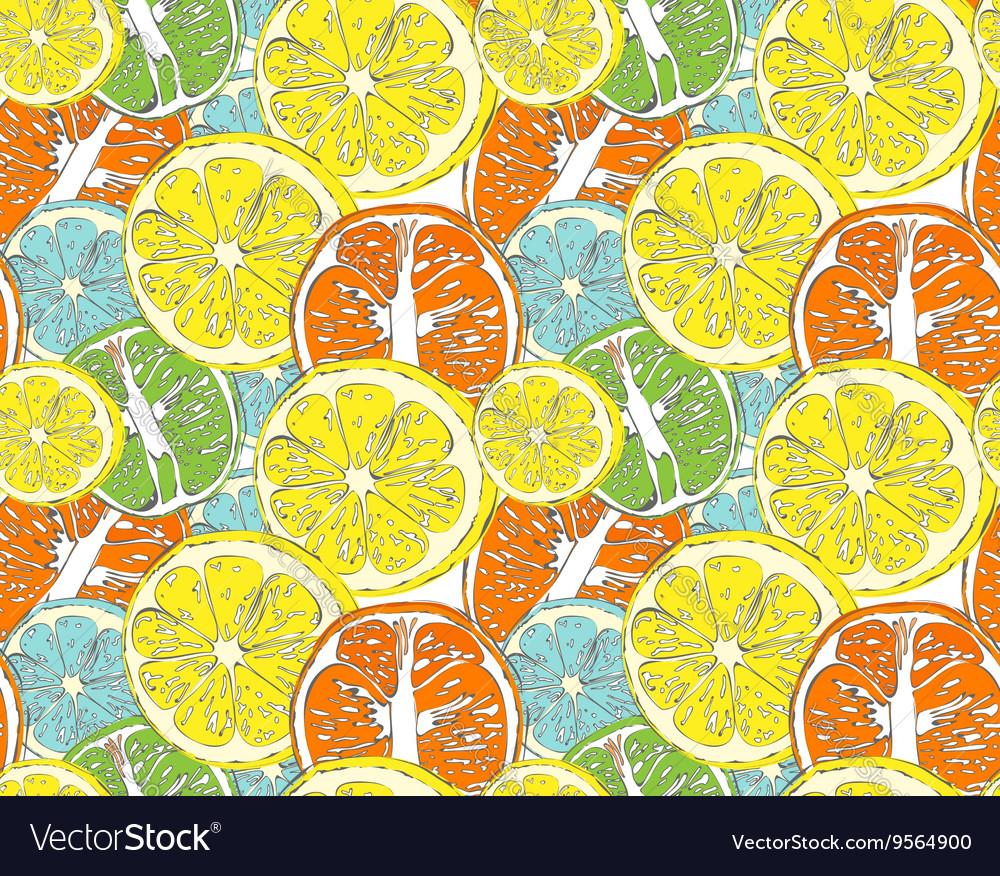Hello Summer orange lemon vector image