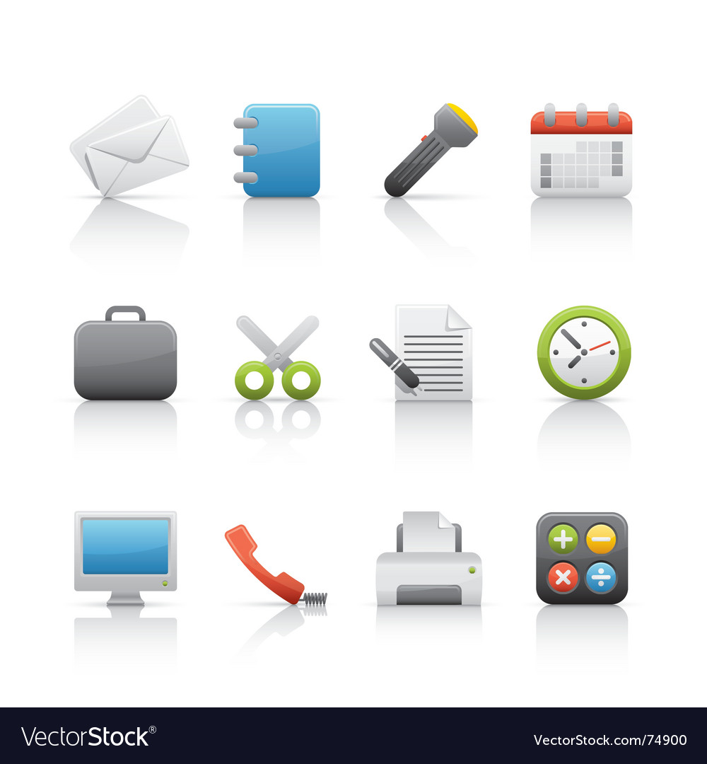 Icon set office and business