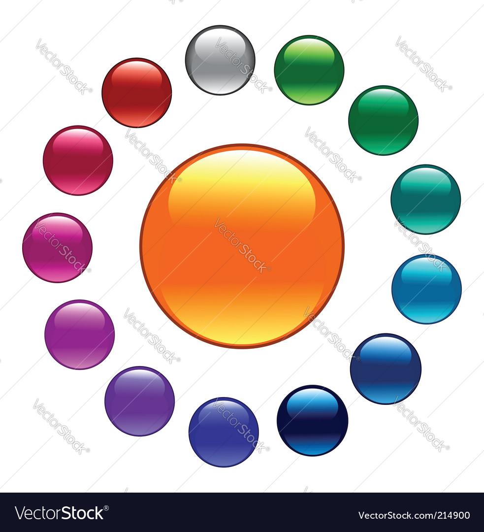 Palette color buttons vector image