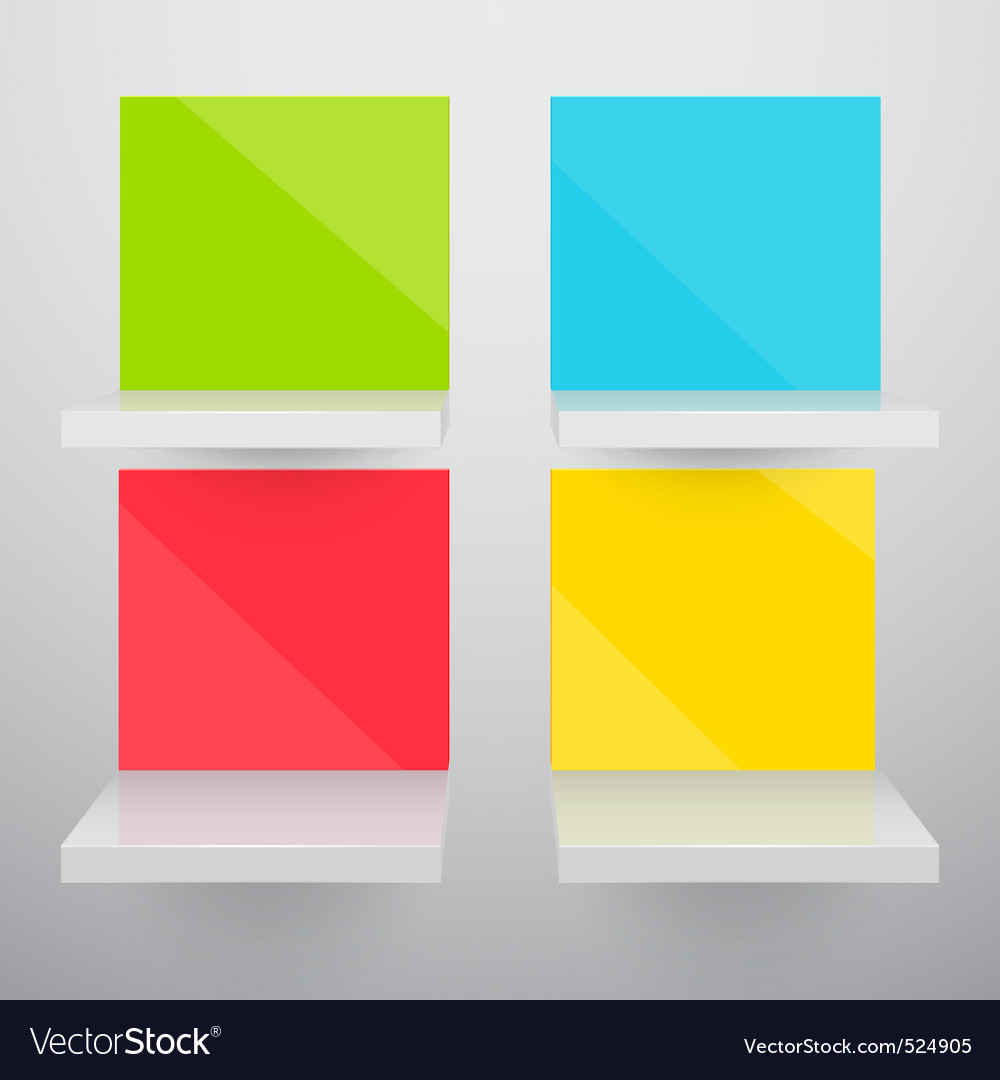 3d isolated empty colorful vector image