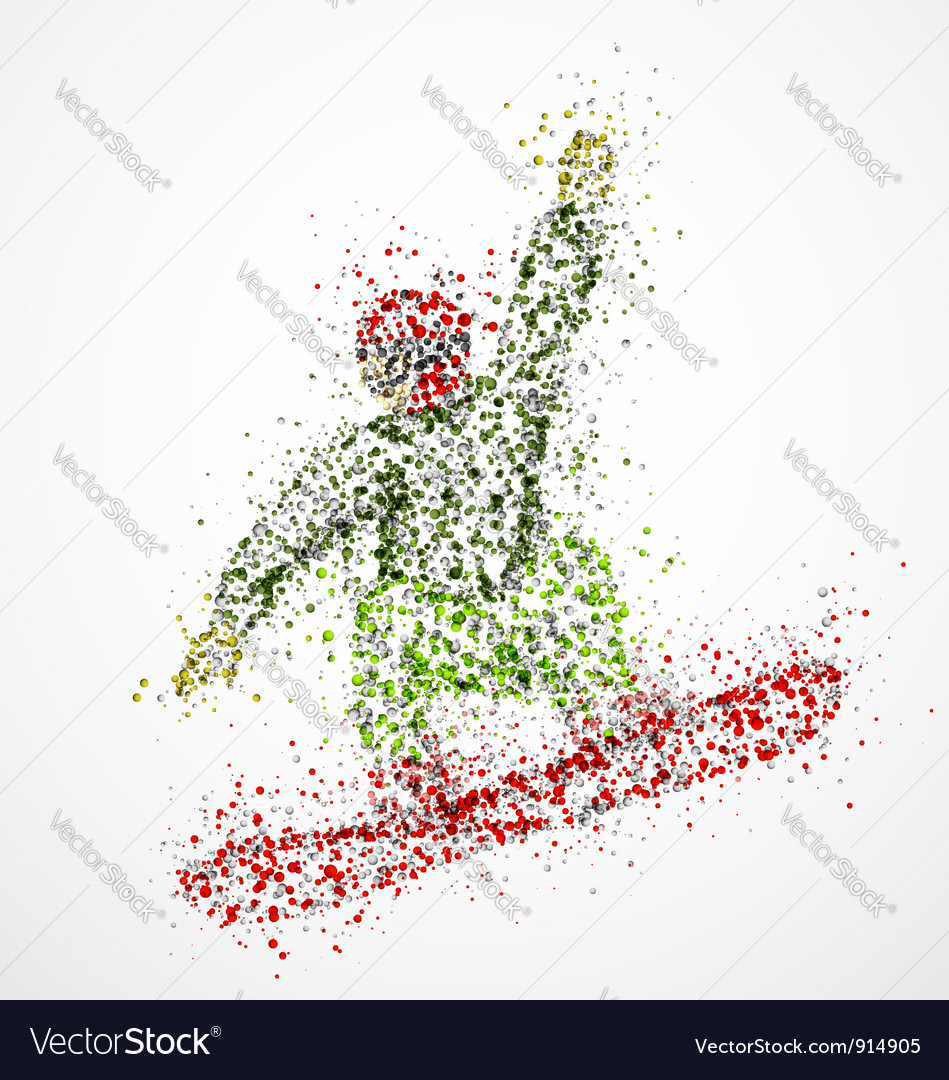 Abstract snowboarder2 vector image