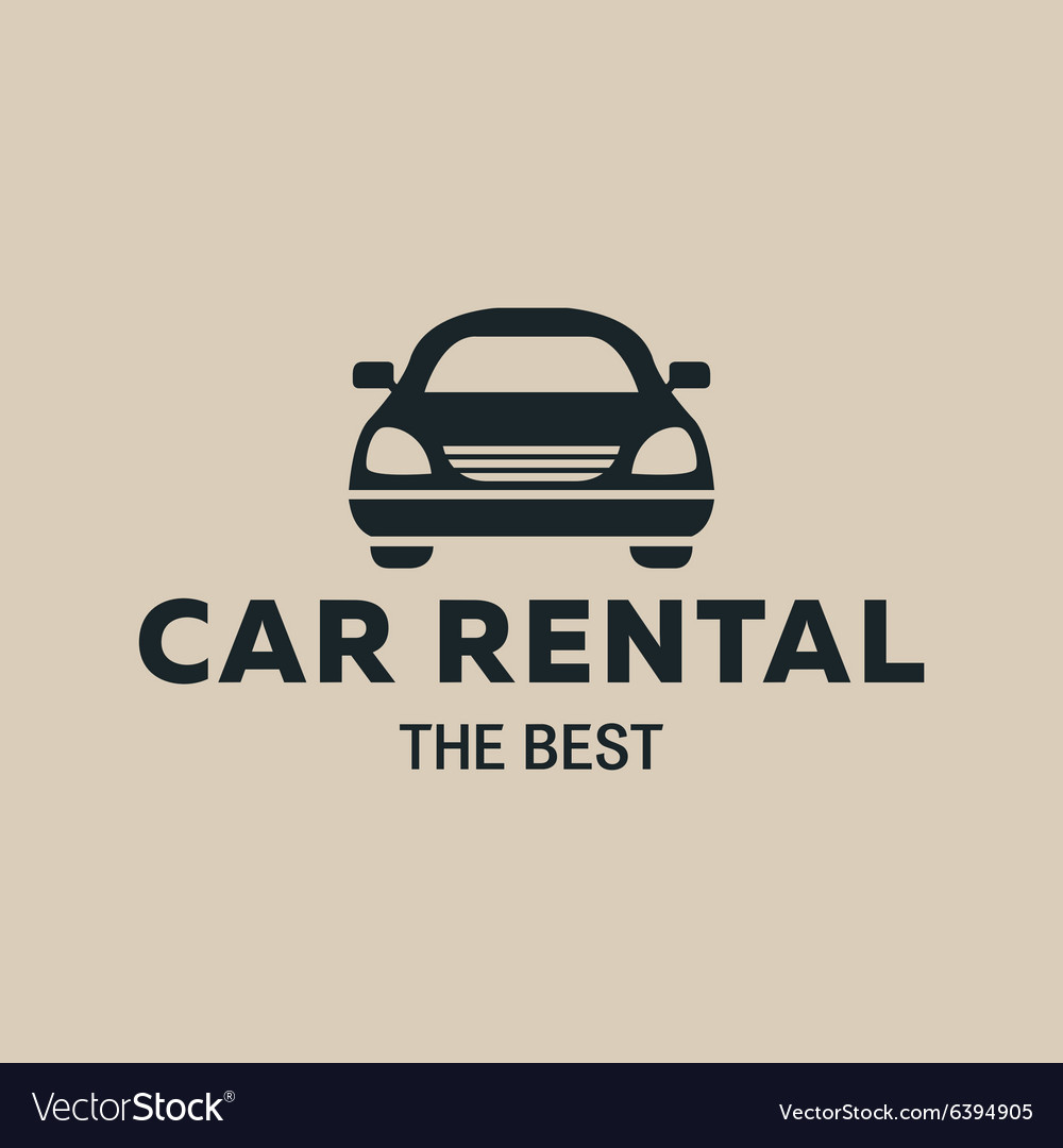 Best Car Rent Logo Icon Strong Royalty Free Vector Image