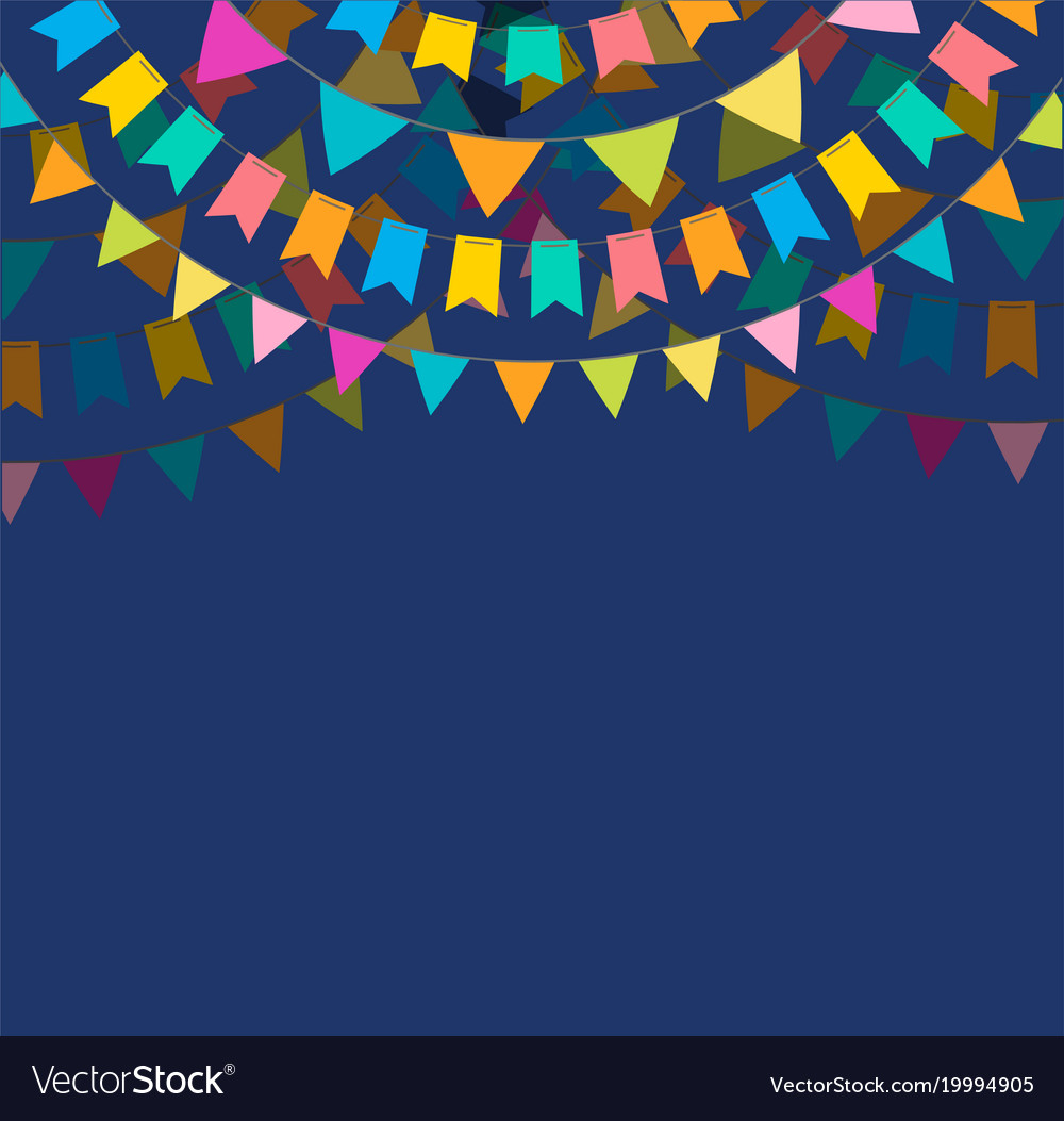 Fiesta banner and poster design with flags vector image