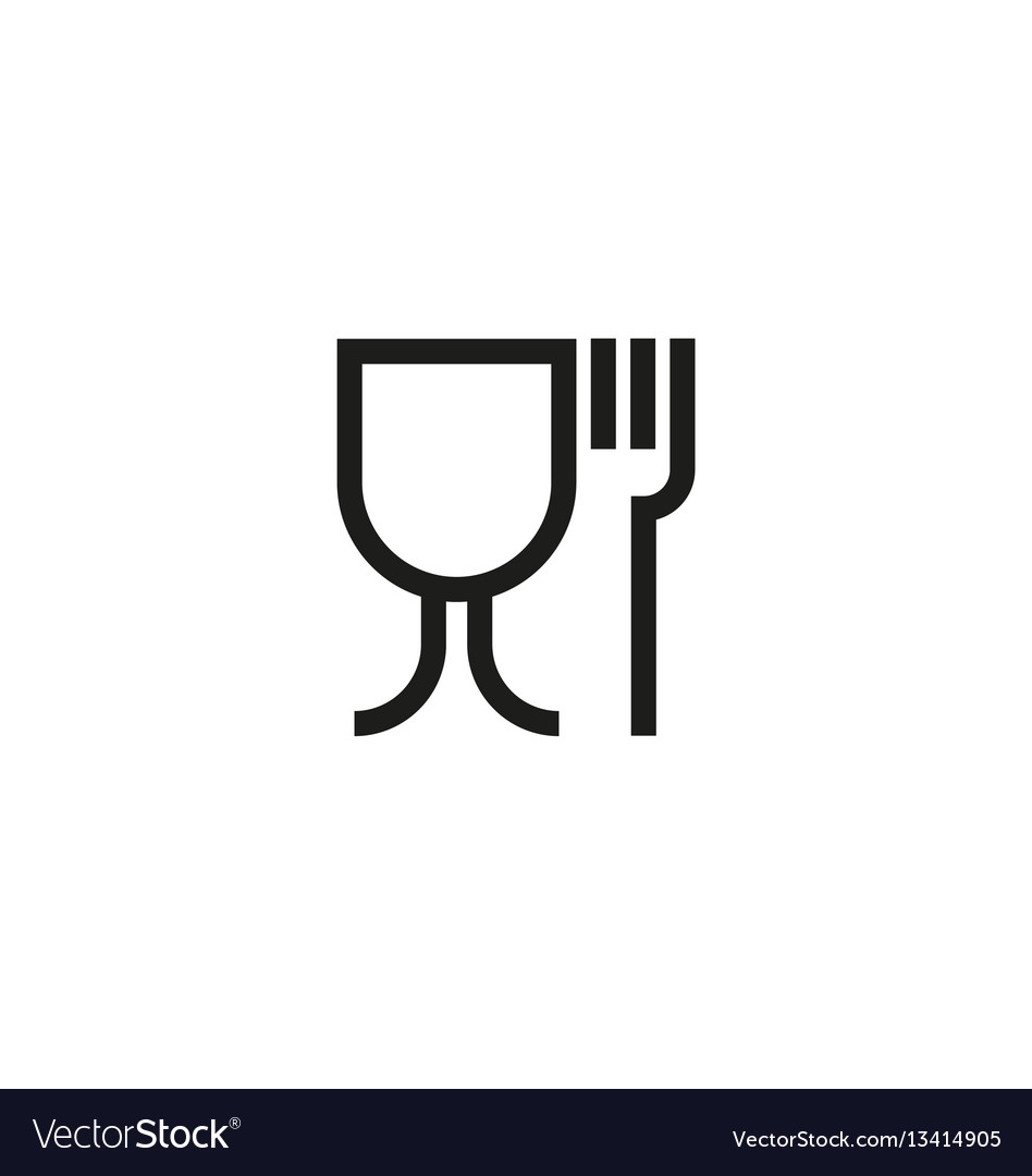 Food Safe Symbol On White Background Royalty Free Vector