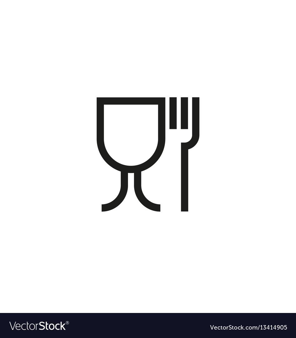Food safe symbol on white background vector image