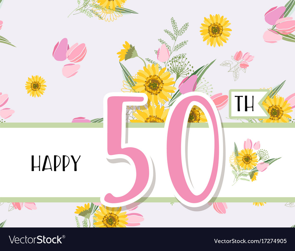 Greeting Card For Anniversary Birthday Royalty Free Vector