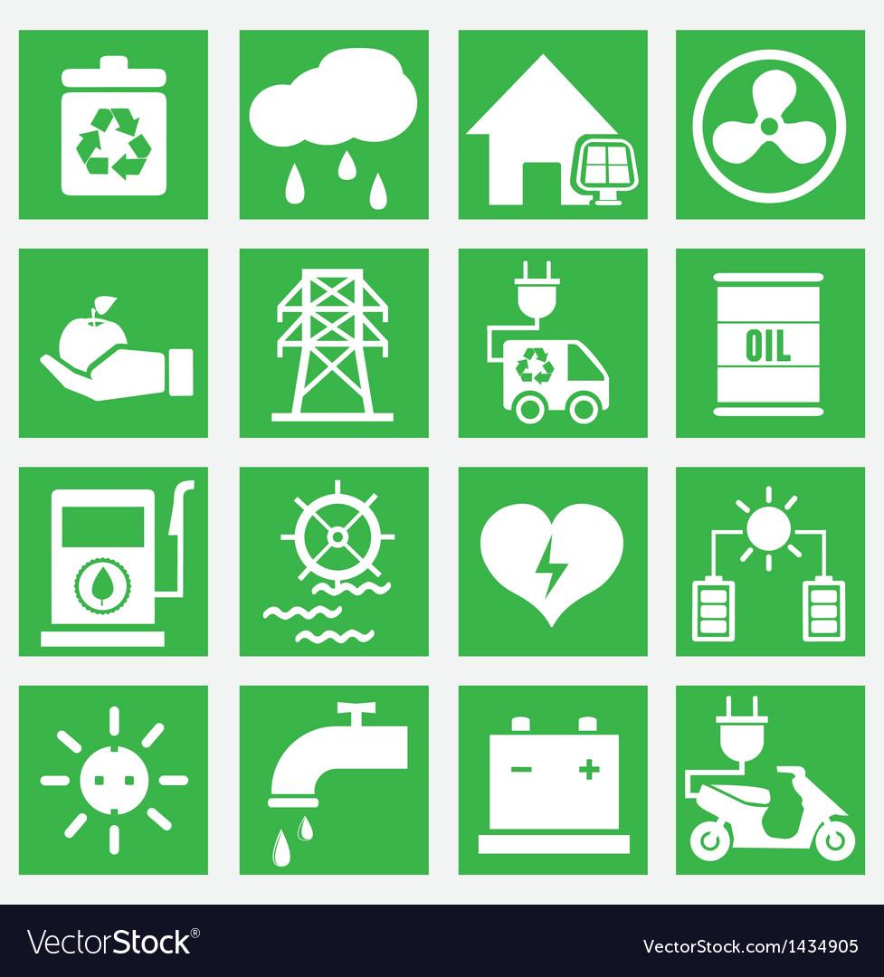 Set of energy saving icons - part 2