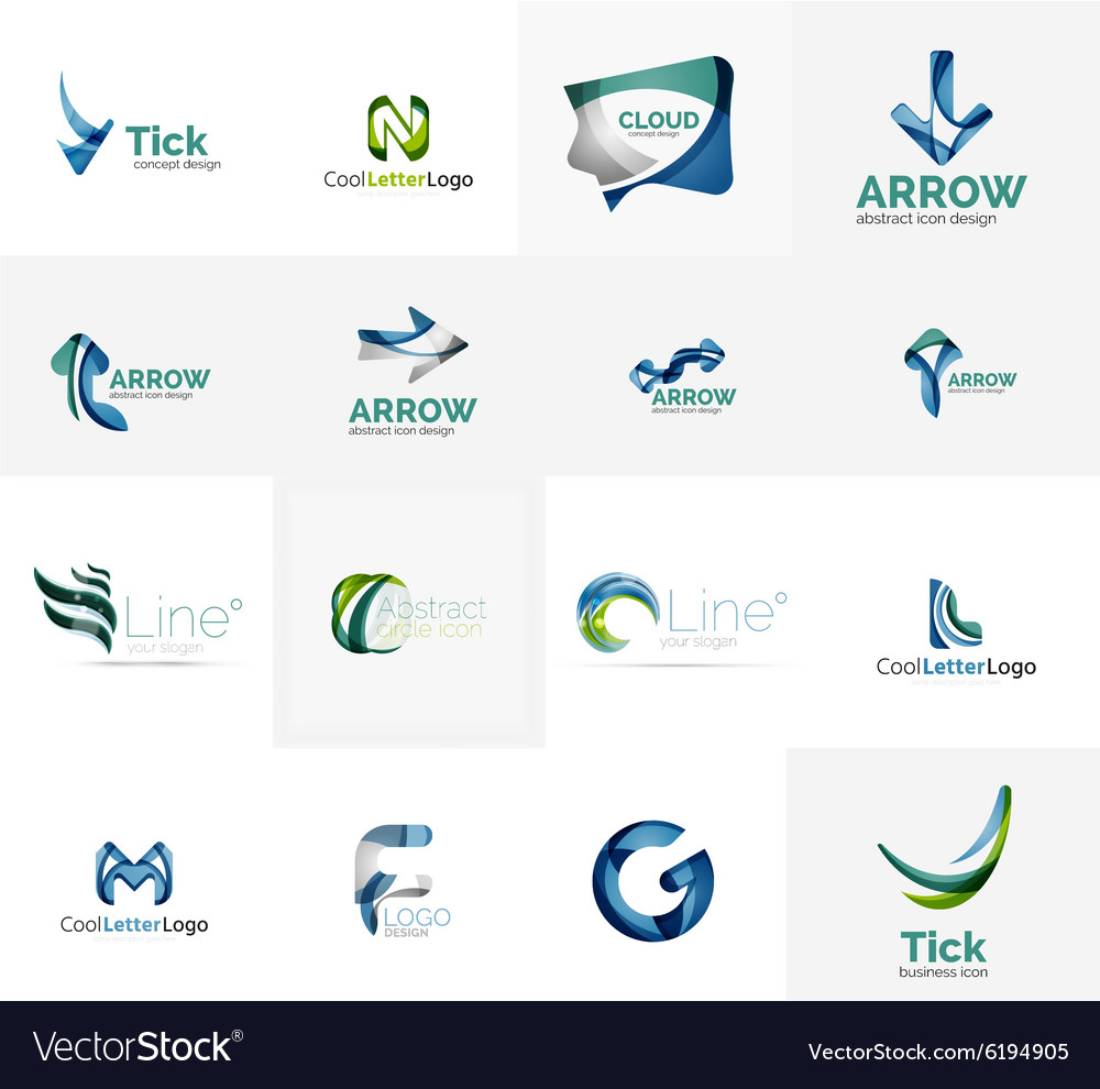 Set of universal company logo ideas business icon