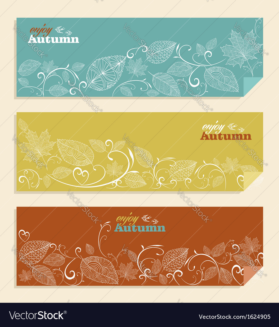 Vintage Enjoy autumn text and leaves background