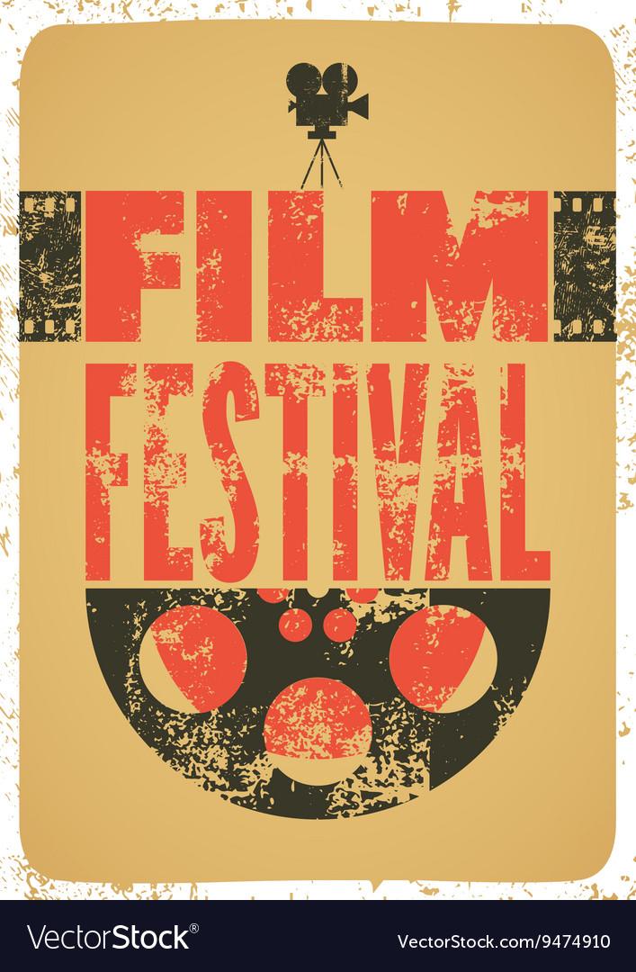 Film festival retro typographical poster