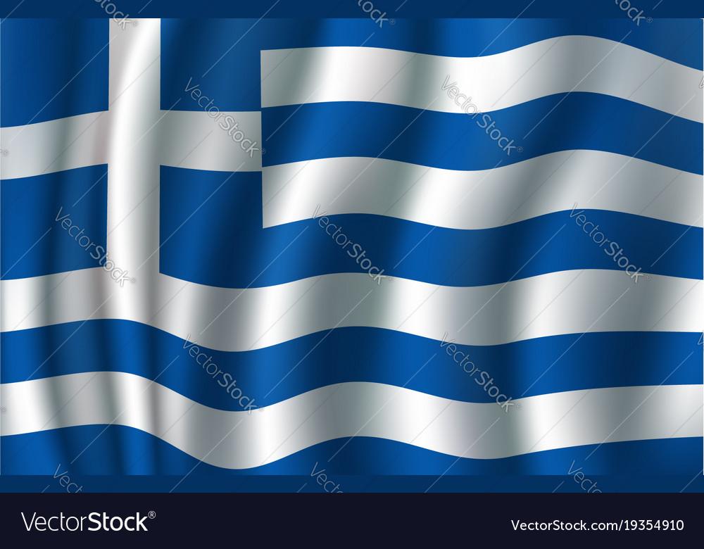 Flag of greece 3d greek blue white banner