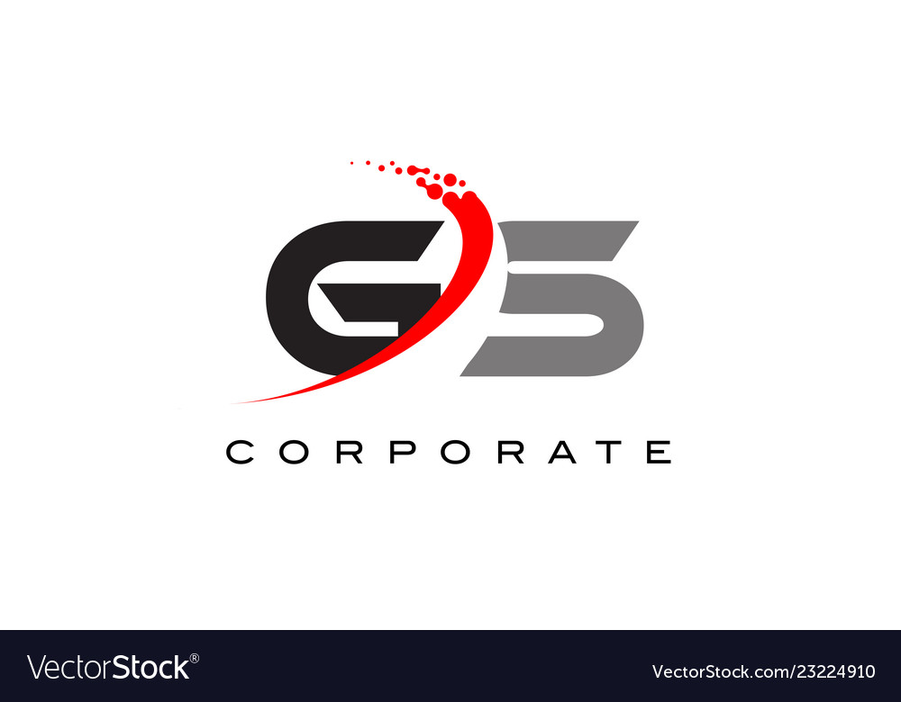 Gs modern letter logo design with swoosh