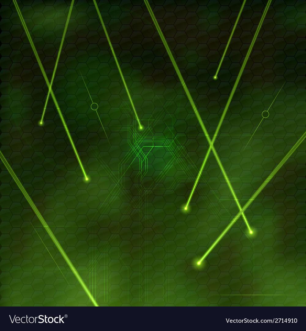 Laser green vector image