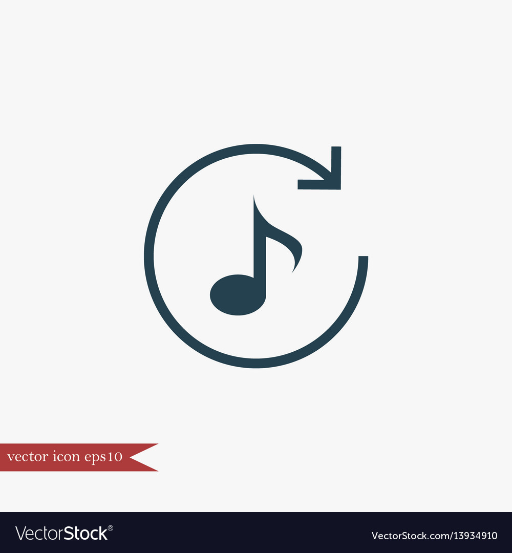 Music note icon simple