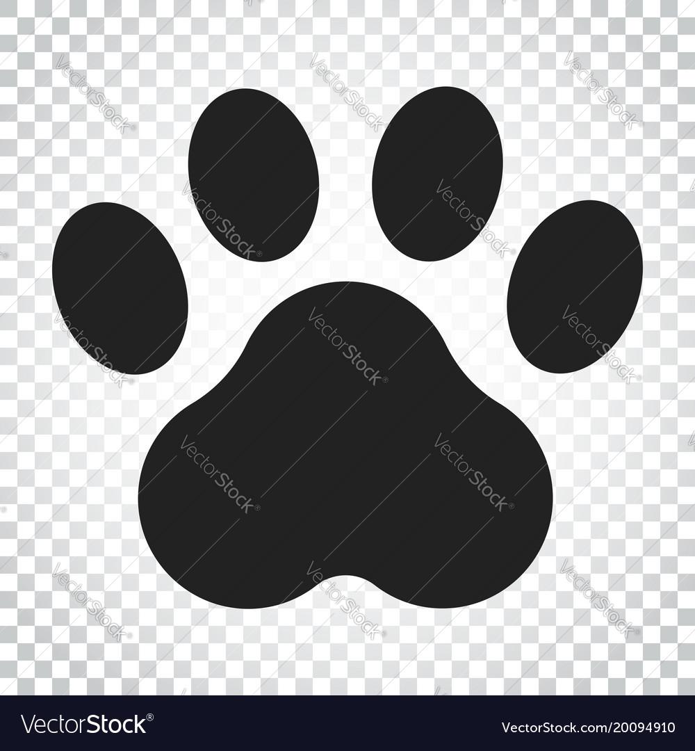 paw print icon dog or cat pawprint animal vector image rh vectorstock com dog paw print vector free download dog paw print vector free