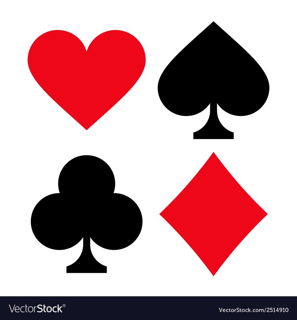 Playing Card Symbols Royalty Free Vector Image