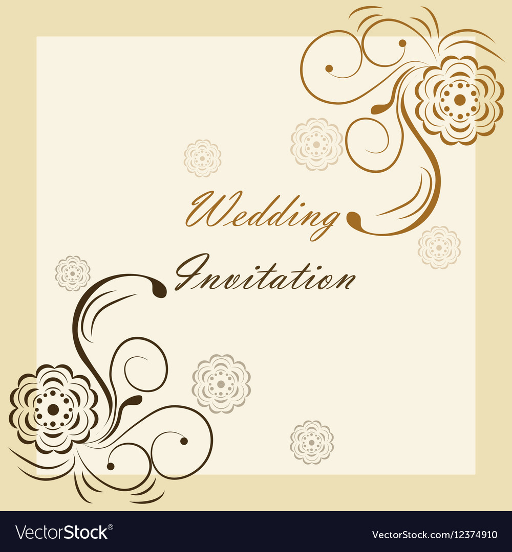 wedding invitation with ornaments royalty free vector image