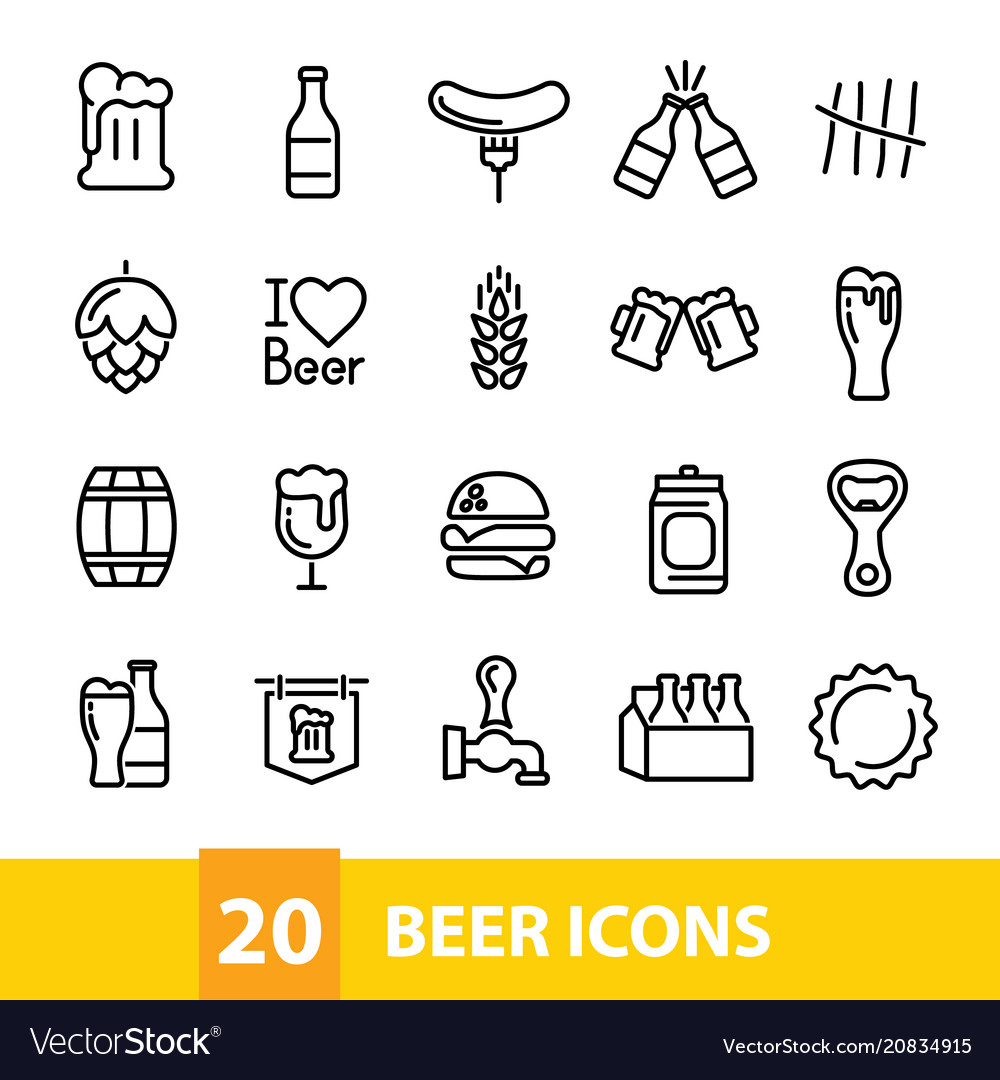 Beer icons collection