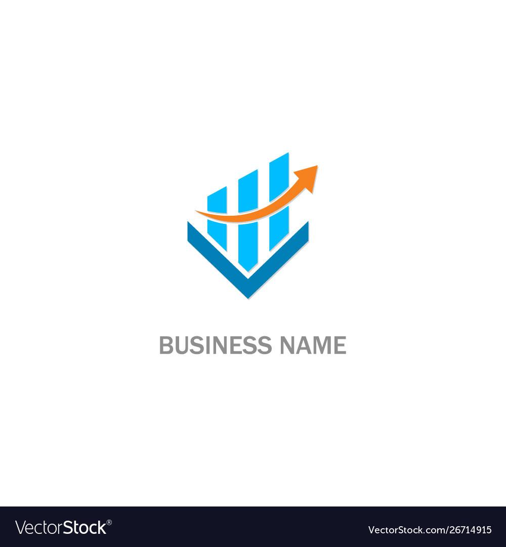 Business arrow progress company logo