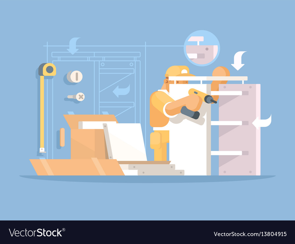 Collector of furniture vector image