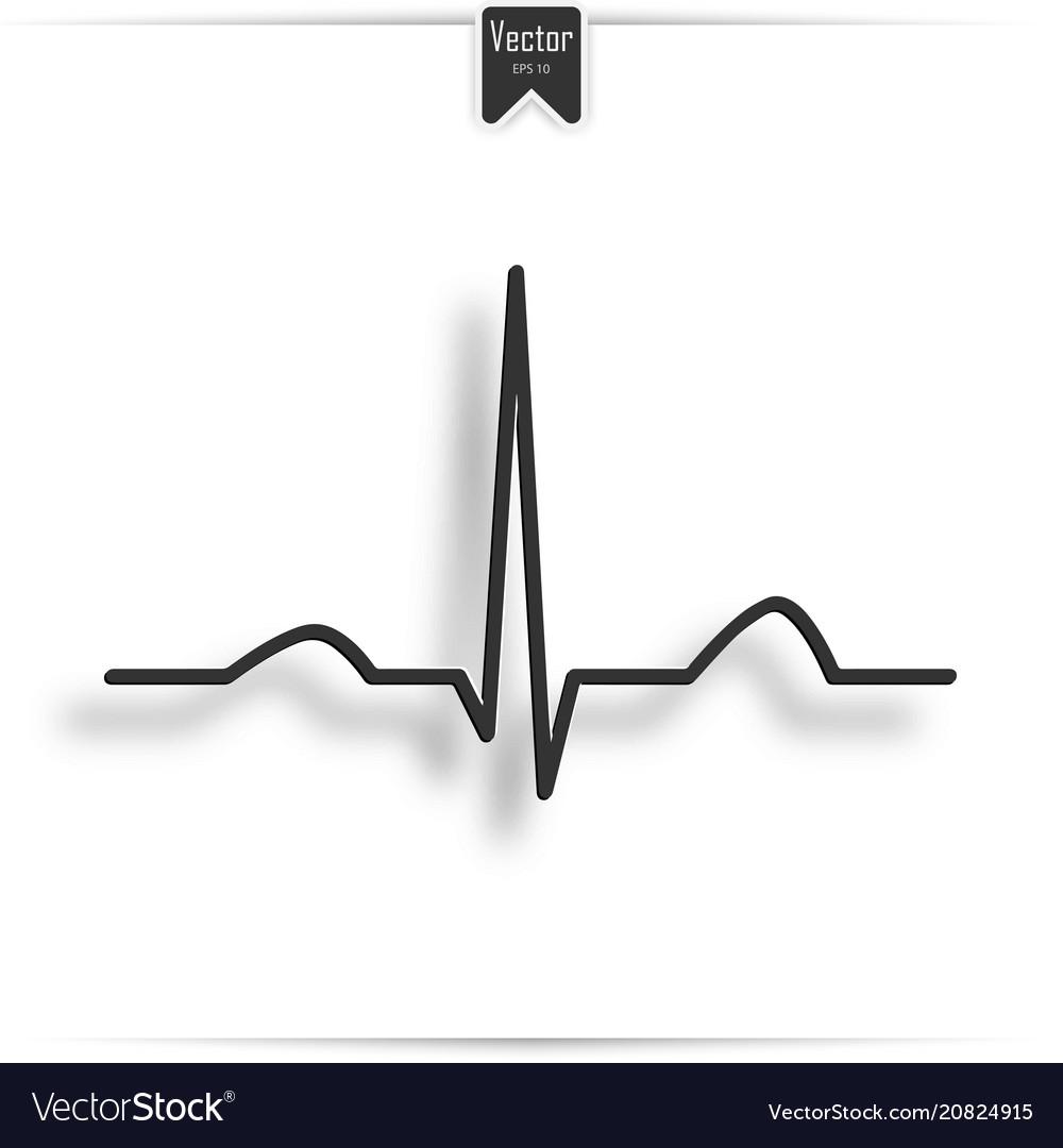 Electrocardiogram ecg ekg - medical icon