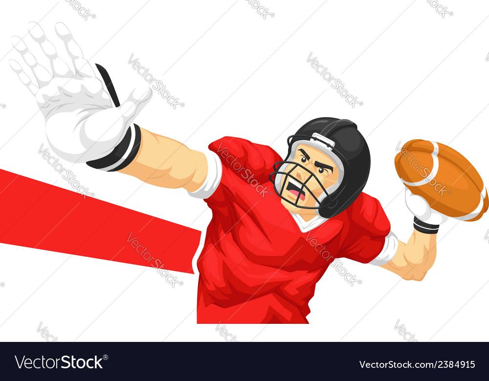 Football player quarterback throwing ball