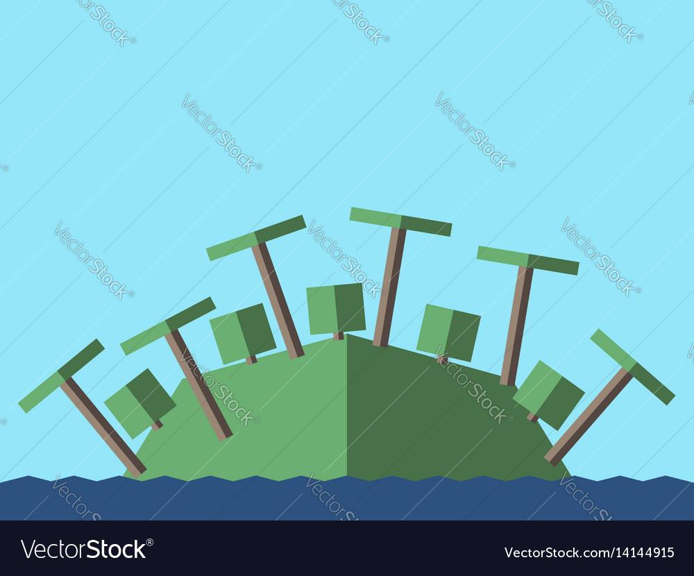 Island palms bushes