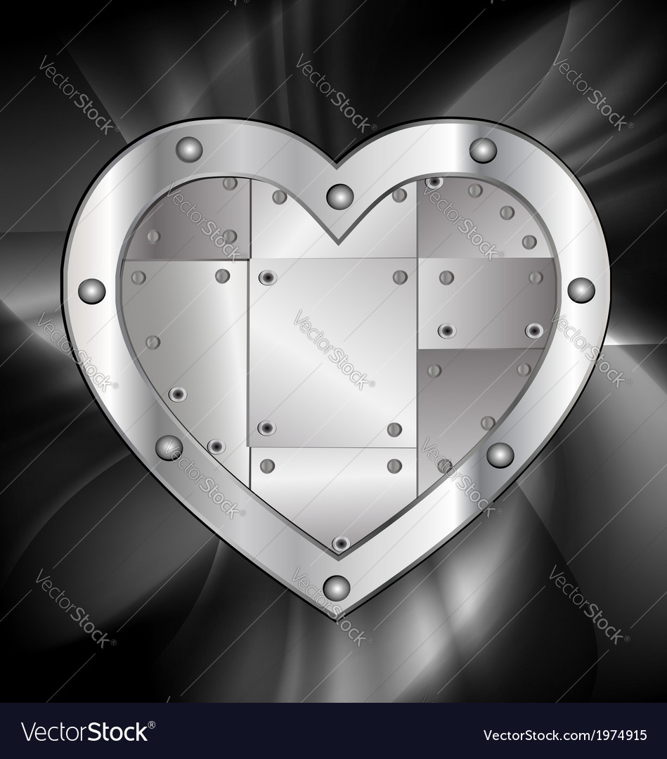 Large metal heart