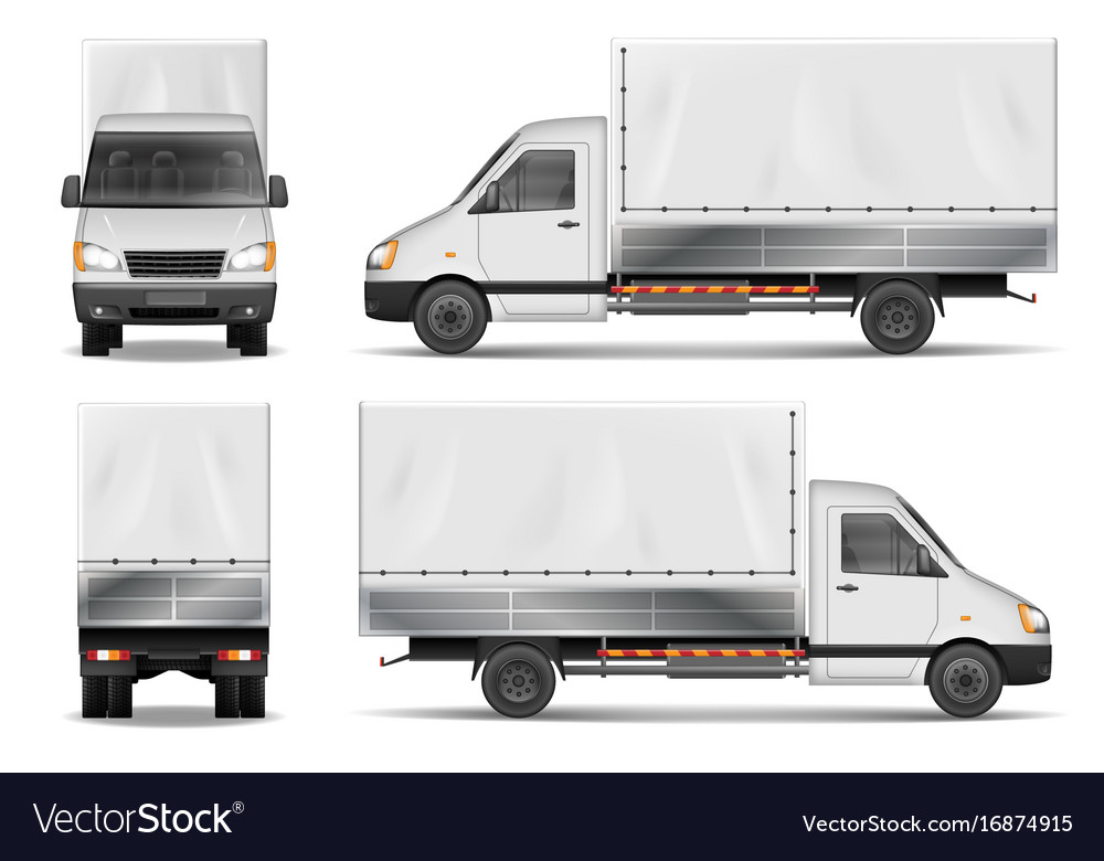Semi truck isolated on white commercial cargo