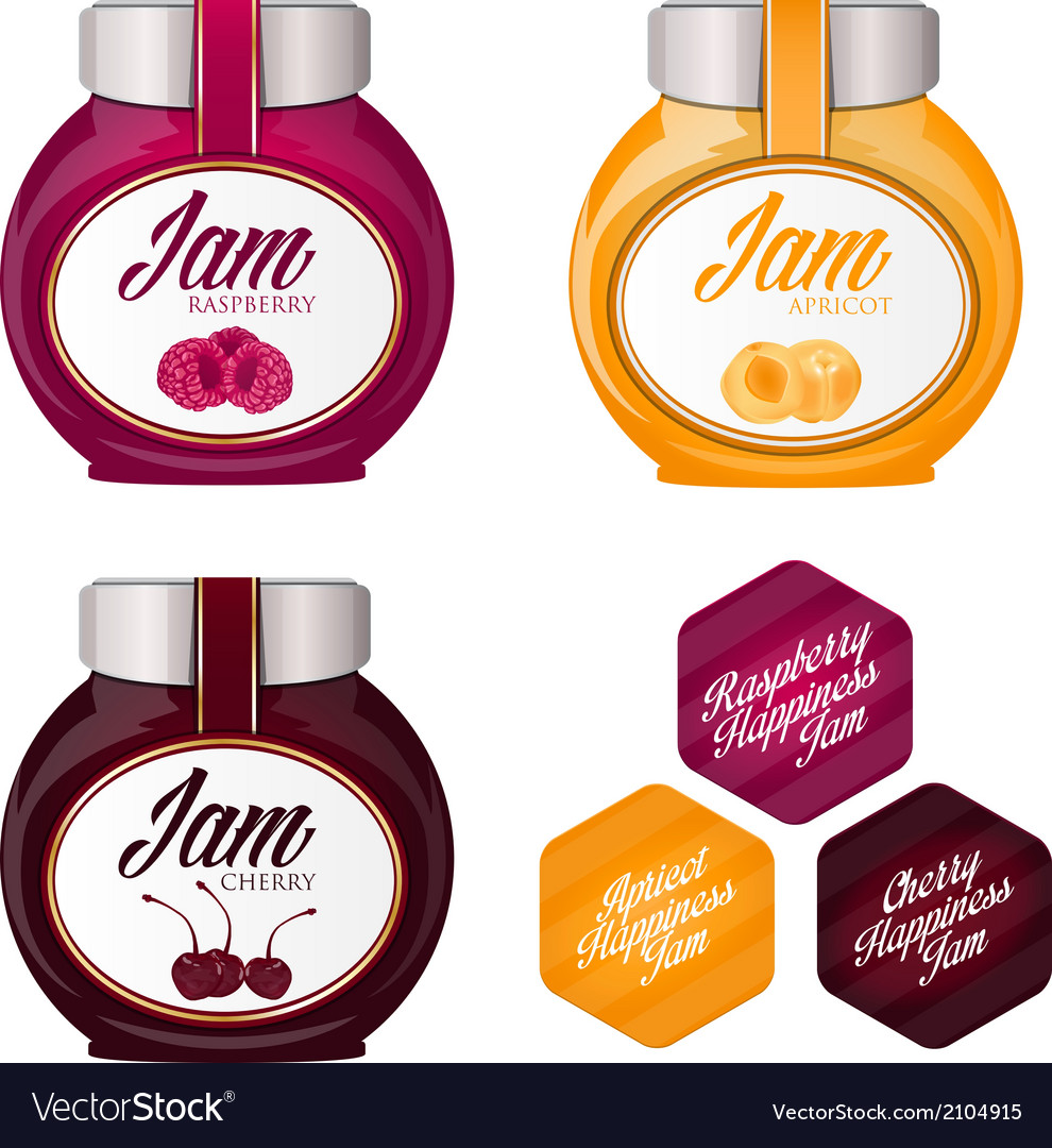 Set of delicious jams vector image