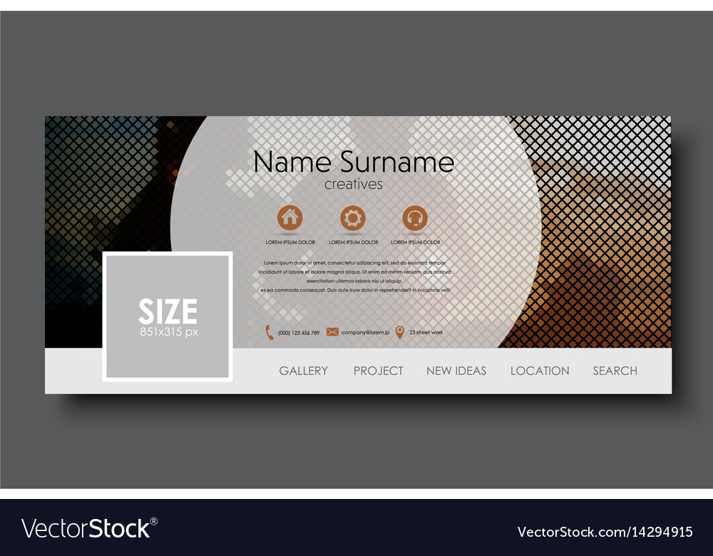 Template banner for social network vector image