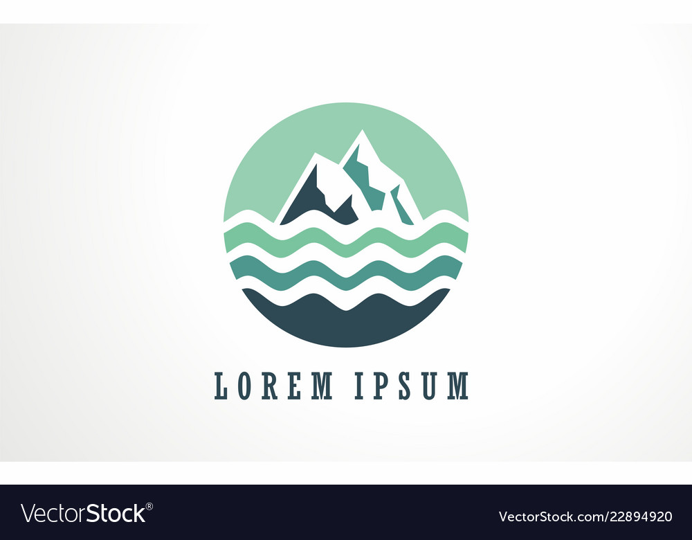 Abstract mountain and water logo