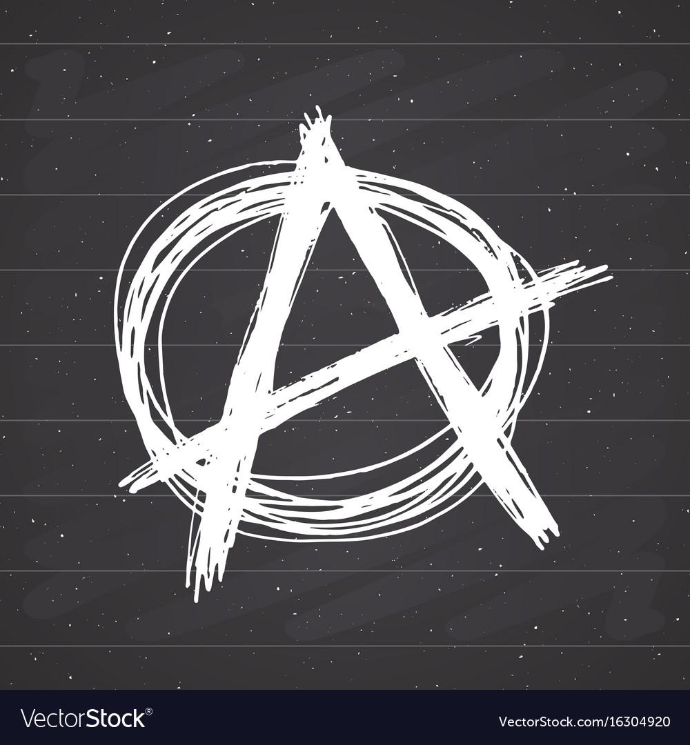Anarchy sign hand drawn sketch textured grunge