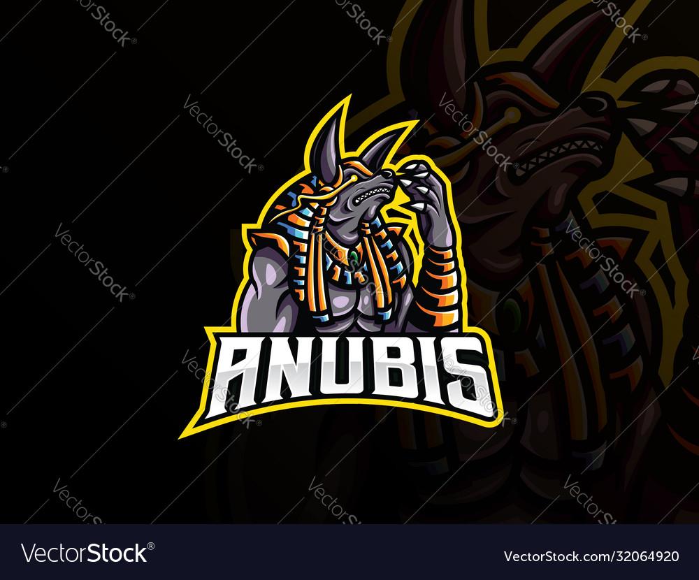 Anubis mascot sport logo design