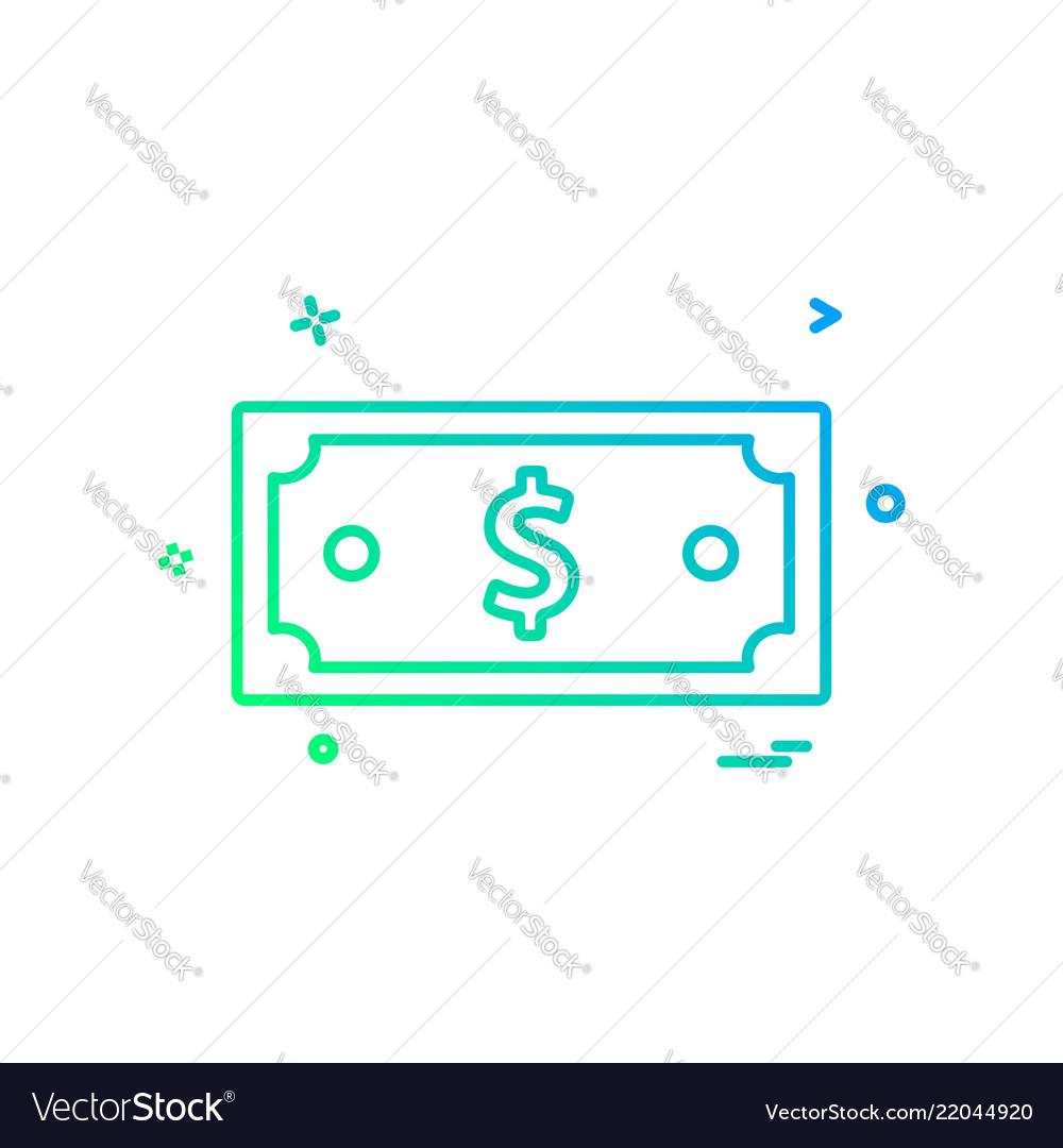 Dollar money currency icon design
