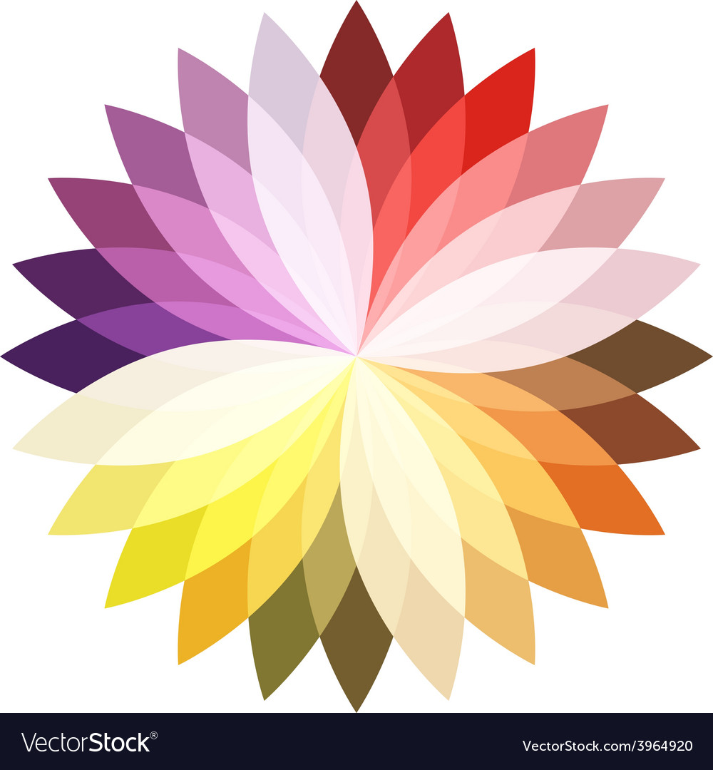 Flower color lotus silhouette for design vector image mightylinksfo