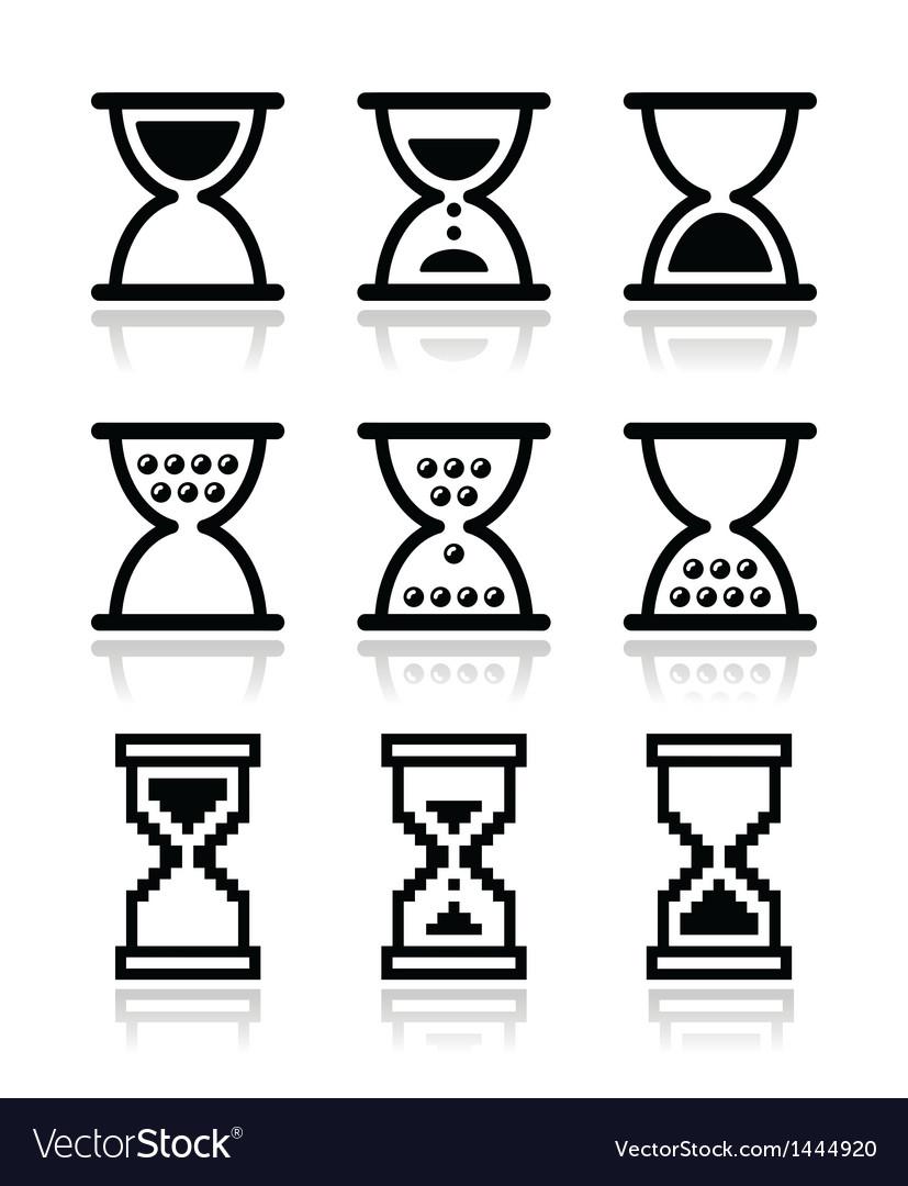 Hourglass sandglass icon set