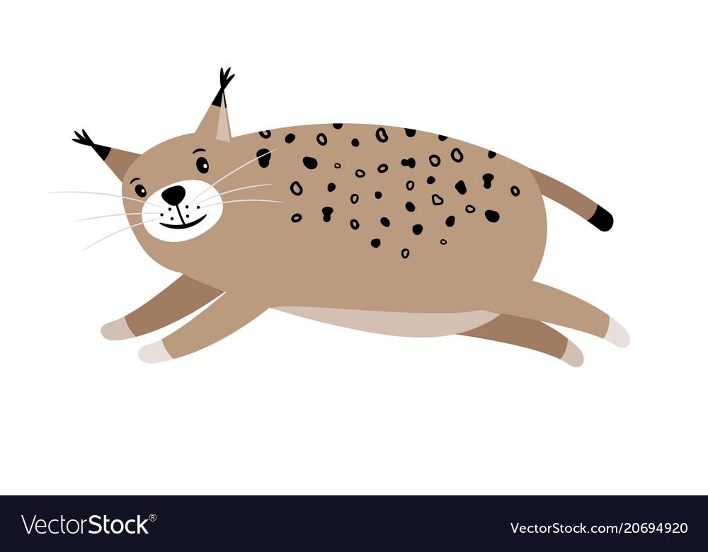 Lynx cute cartoon animal icon