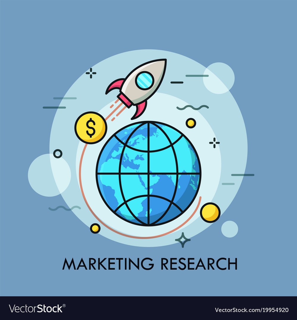 Marketing research thin line concept