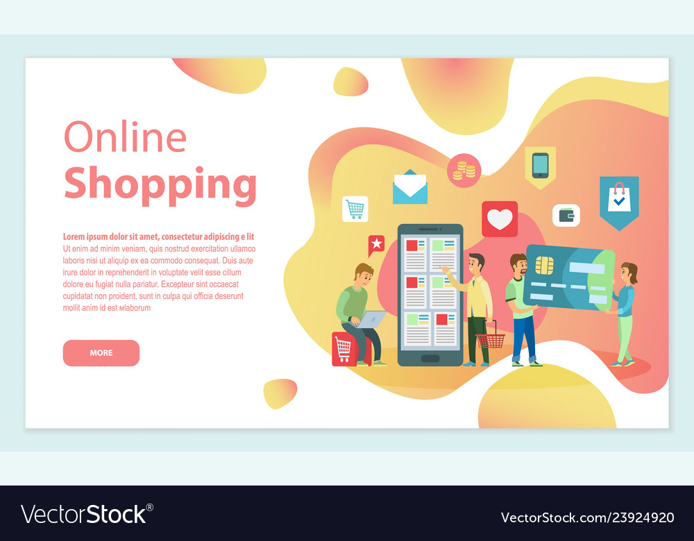 Online shopping people choosing items from store