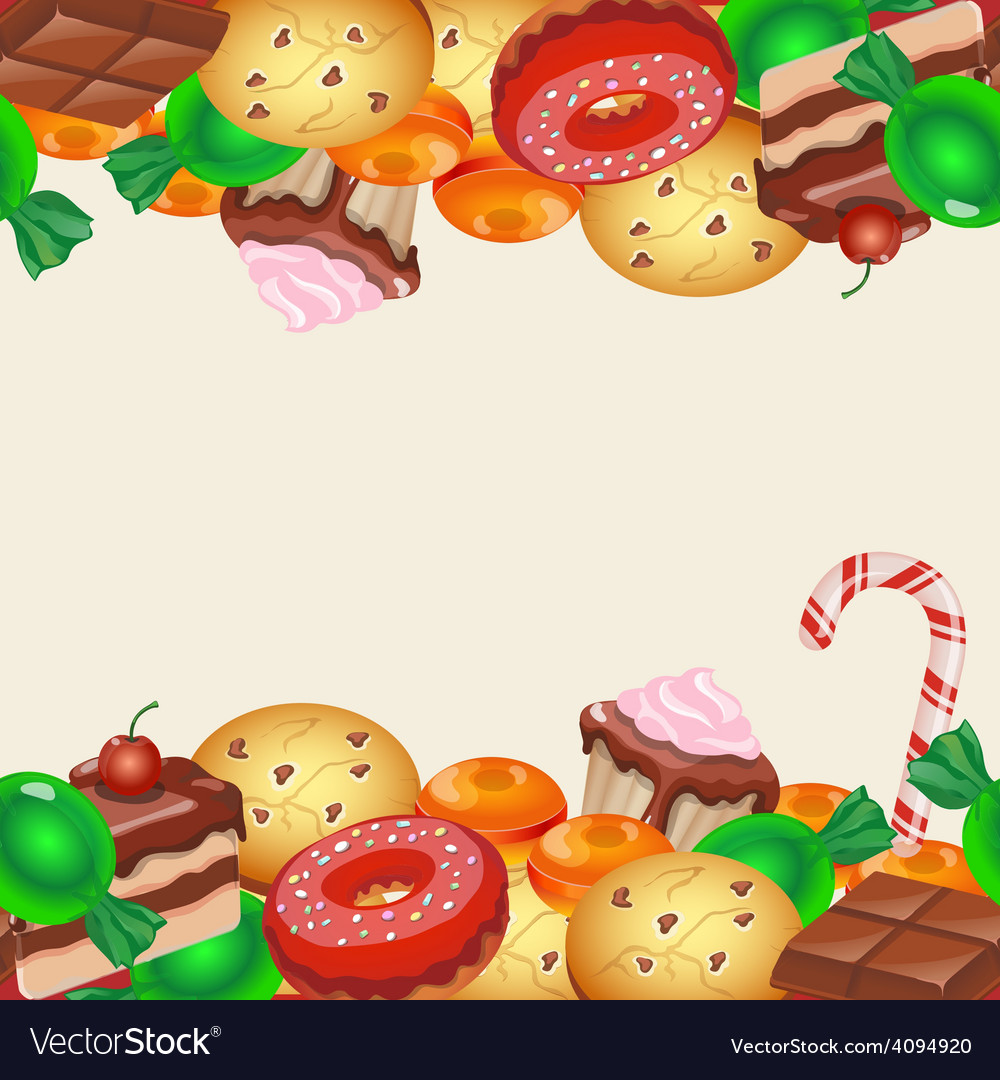 Seamless pattern colorful sticker candy sweets