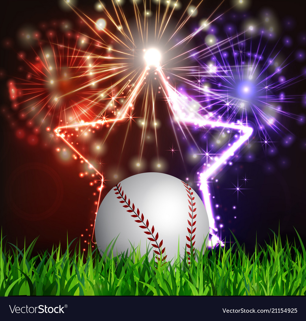 Baseball ball on grass