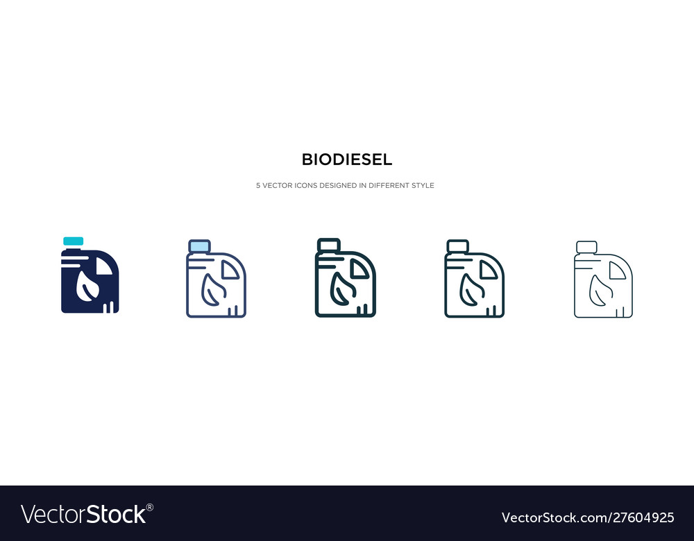 Biodiesel icon in different style two colored