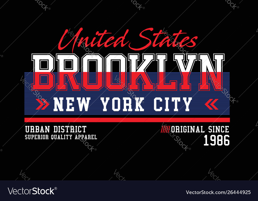 Brooklyn united states for t-shirt design