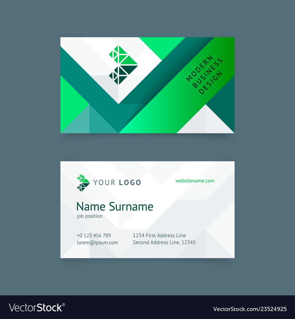 creative business card template royalty free vector image