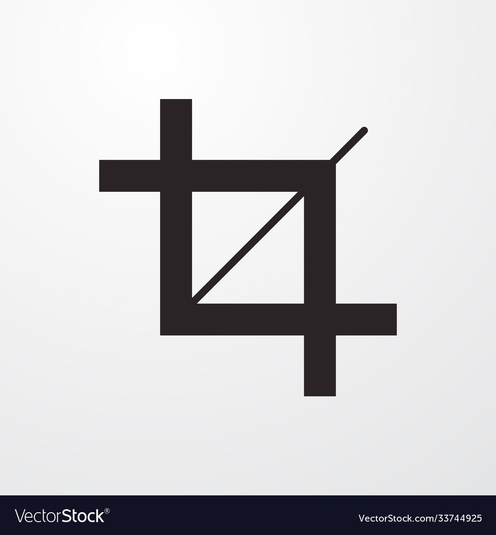 Crop sign icon flat design style for web