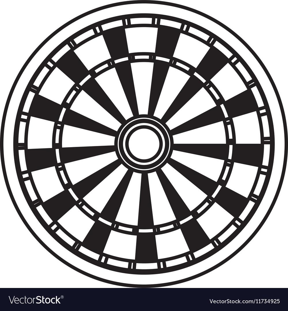 Dart Board Game Royalty Free Vector Image Vectorstock