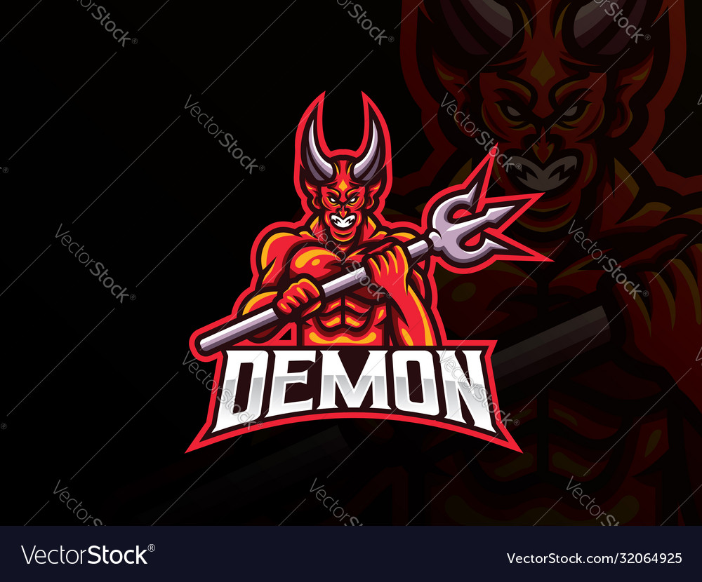 Demon mascot sport logo design