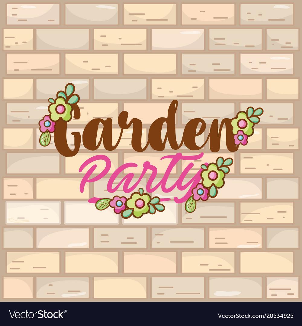 Garden party card vector image